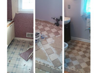 Home Improvement Contractor New Install Ceramic Floor Tiles