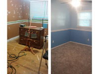 Painting Walls Install Chairrails Install Carpeting